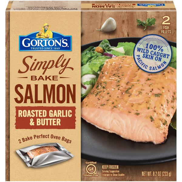 Gorton's Simply Bake Roasted Garlic & Butter Salmon - 8.2oz