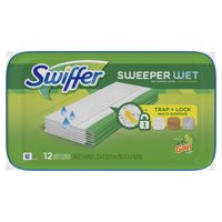 Swiffer Sweeper Wet Mopping Cloths, with Gain Scent, 12 count