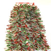 12' Wide Cut Red, Green, and Snowstorm Christmas Garland