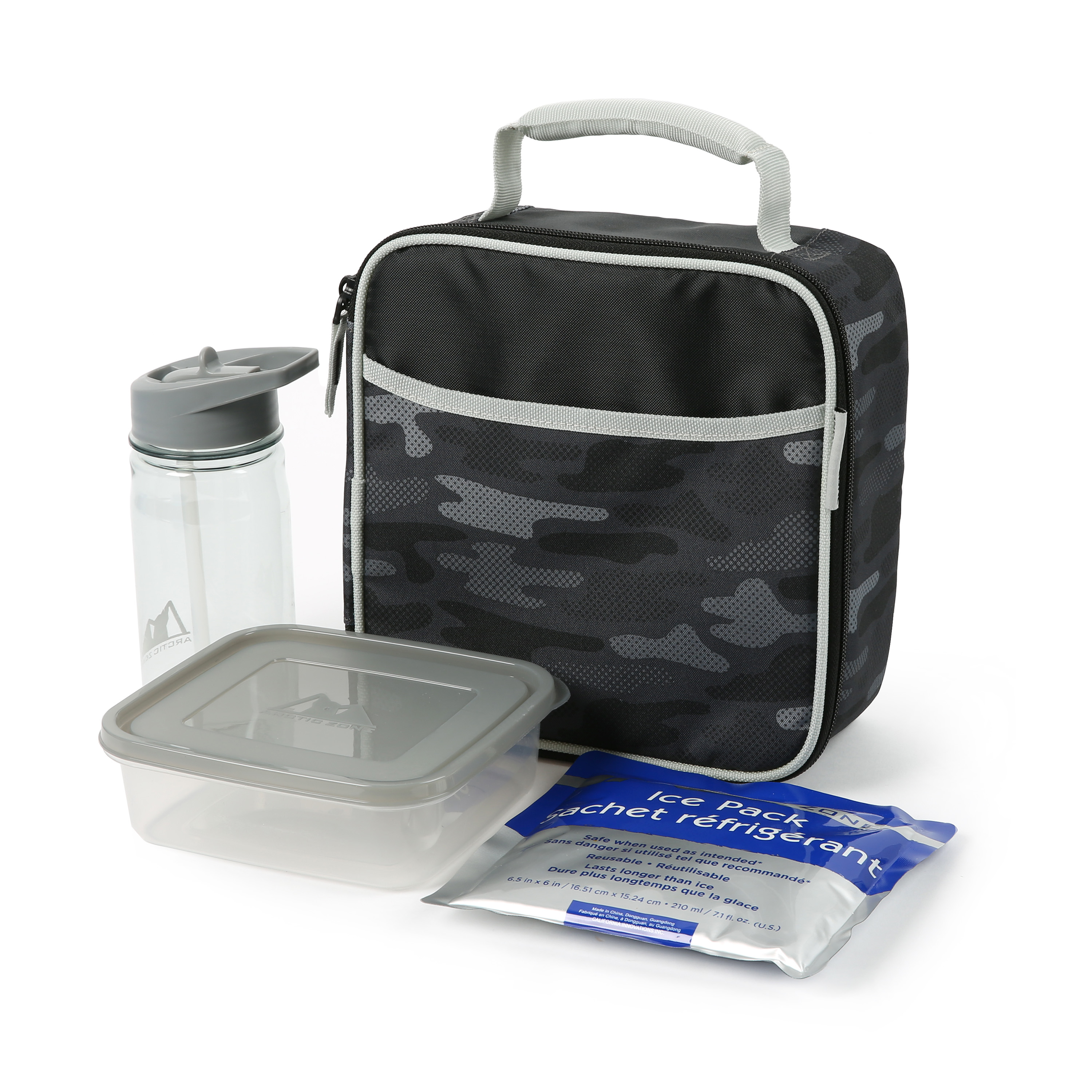 Arctic Zone Lunch Box Combo with Accessories and Microban® Protected Easy Clean Lining, Camo