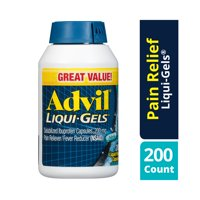 Advil Liqui-Gels (200 Count) Pain Reliever / Fever Reducer Liquid Filled Capsule, 200mg Ibuprofen, Temporary Pain Relief, Pain reliever