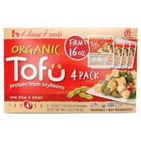 House Foods Organic Firm Tofu, 4 x 16 oz