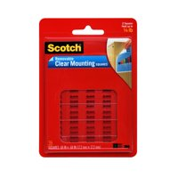 3M 859 Scotch Clear Removable Mounting Squares, 11/16', 35/Pkg.11/16'