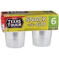 H-E-B Texas Tough Snack And Go Containers With Lids