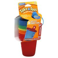 The First Years Sippy Cups, Take & Toss, 7 Ounce