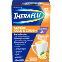 Theraflu Nighttime Severe Cold & Cough Packets Honey Lemon - 6 CT
