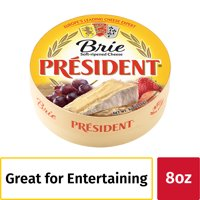 President Brie Soft-Ripened Cheese, 8 oz