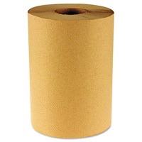 Boardwalk Hardwound Brown Paper Towels - 6 Rolls / 800ft