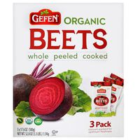 Organic Gefen Whole Red Beets, 3 x 17.6 oz