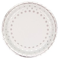"Sparkle and Shine Silver Foil 9"" Paper Plates - 8ct"