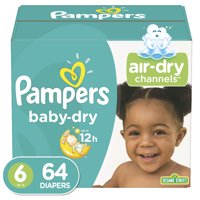 Pampers Baby-Dry Extra Protection Diapers, Size 6, 64 Ct