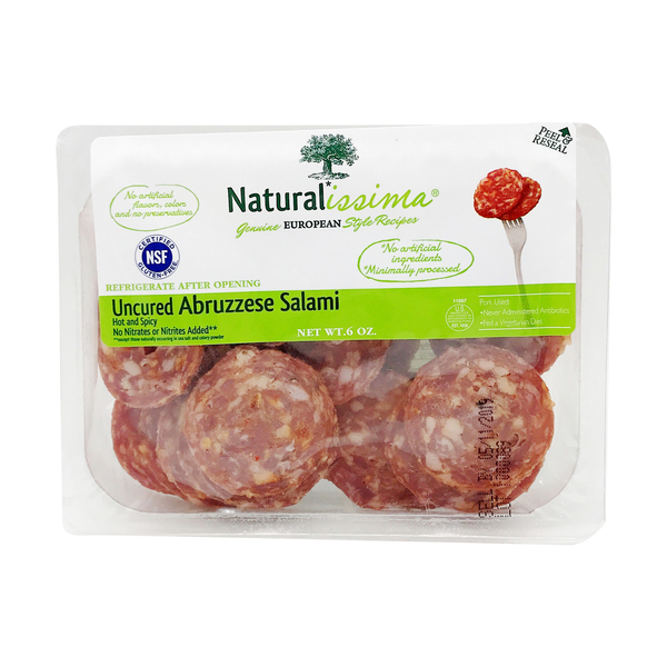 Naturalissima Uncured Abruzzese Salami, 6 oz