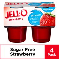 Jell-O Sugar Free Ready to Eat Strawberry Gelatin, 4 ct - 12.5 oz Package