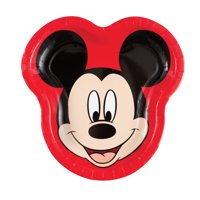 Mickey Mouse Shaped Paper Dinner Plates, 9in, 8ct