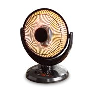 Mainstays Infrared Oscillating Dish Heater, Black, JHS-800H