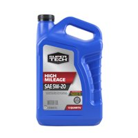 Super Tech High Mileage SAE 5W-20 Motor Oil, 5 Quarts