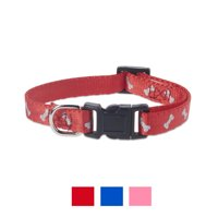 Vibrant Life Reflective Dog Collar, Red Bones, X-Small