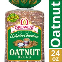Oroweat Whole Grains Oatnut Bread, Baked with Simple Ingredients & Oats, Sunflower Seeds & Hazelnuts, 24 oz