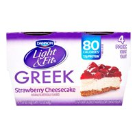 Light & Fit Nonfat Gluten-Free Strawberry Cheesecake Greek Yogurt, 5.3 Oz. Cups, 4 Count