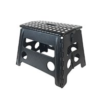 Core Pacific 12 inch Step Stool Black with White Dots