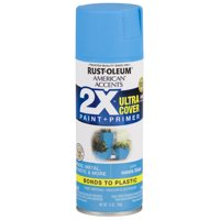 Oasis Blue, Rust-Oleum American Accents 2X Ultra Cover, Satin Spray Paint, 12 oz