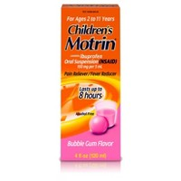 Children's Motrin Pain Reliever/Fever Reducer Liquid - Ibuprofen (NSAID) - Bubble Gum - 4 fl oz