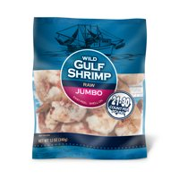 Frozen Wild Gulf Raw Jumbo Shrimp, Easy Peel, Shell On, 21-30 pcs, 12 oz