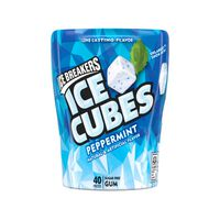 Ice Breakers ICE CUBES Sugar Free Peppermint Gum,  Pieces, 3.24