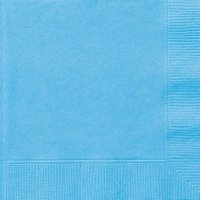 Paper Luncheon Napkins, 6.5 in, Light Blue, 24ct