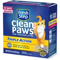 Fresh Step Clean Paws Triple Action Scented Litter, Clumping Cat Litter, 22.5 Pounds