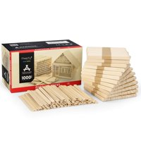 Magicfly Popsicle Sticks, 1000pcs, Natural Wooden Food Grade Craft Sticks, 4-1/2 Inch Great Bulk Ice Cream Sticks for Craft Project, Home Decoration