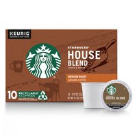 Starbucks Medium Roast K-Cup Coffee Pods — House Blend for Keurig Brewers