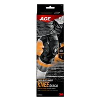 ACE Adjustable Hinged Knee Brace, Low Profile, Moisture Wicking, Firm, Black, 1/Pack