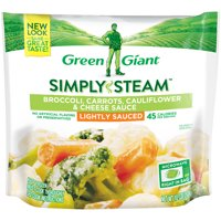 B & G Foods Green Giant Steamers Broccoli Carrots Cauliflower & Cheese Sauce, 10 oz