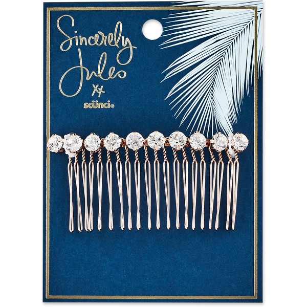 Sincerely Jules by Scünci Rhinestone Metal Comb