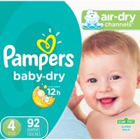 Pampers Baby-Dry Diapers Size 4 186 Count