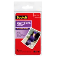 Scotch Self-sealing Laminating Pouches 5 Pack, Wallet Size Sheets,