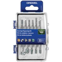 Dremel 729-02 11 PC Carving/Engraving Accessory Micro Kit