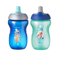 Tommee Tippee Sippy Toddler Sportee Bottle, 12+ months - 10oz, 2ct (Colors May Vary)