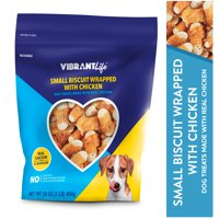 Vibrant Life Small Biscuit Wrapped with Chicken Dog Treats, 16 oz