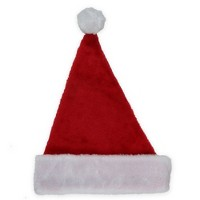 Northlight Red and White Waffle Weave Unisex Adult Christmas Santa Claus Hat Costume Accessory - Medium