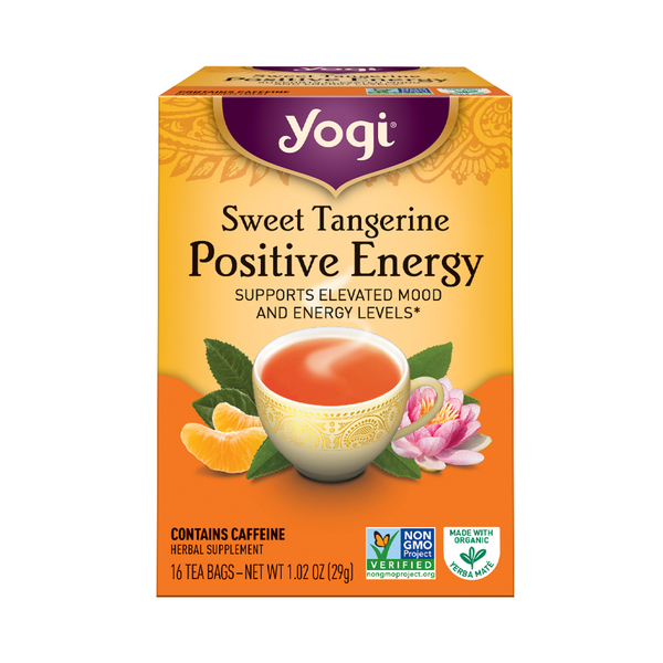 Yogi tea Sweet Tangerine Positive Energy Tea, 1.02 oz