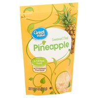 Great Value Sweetened Dried Pineapple, 6 Oz.