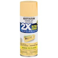 Summer Squash, Rust-Oleum American Accents 2X Ultra Cover, Satin Spray Paint, 12 oz