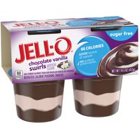 Jell-O Ready to Eat Sugar Free Chocolate Vanilla Swirl Pudding Cups
