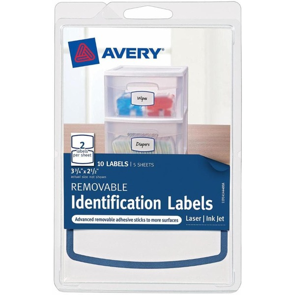 Avery Removable Identification Labels 3 3/4