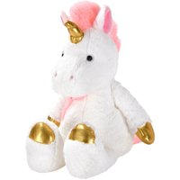 Spark Create Imagine Metallic Plush Unicorn, White & Pink, 12""