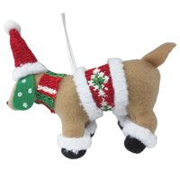 Holiday Time FABRIC DOG ORN