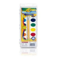 Crayola Semi-Moist Washable Watercolor Paint Set, 16 Count