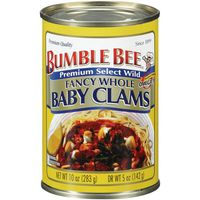 Bumble Bee Baby Clams, Whole, Shucked